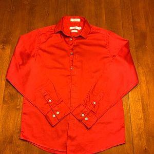 Boys Red Calvin Klein Shirt